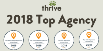 Thrive Named 2018 Top Marketing Agency by UpCity