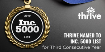 Thrive Named to Inc. 5000 List of Fastest-Growing Companies in America for 3rd Consecutive Year
