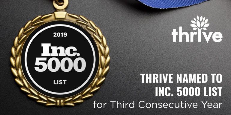 Thrive named to Inc. 5000 list
