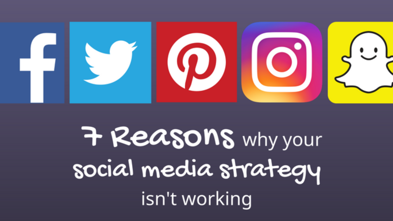 7 Reasons Why Your Social Media Strategy Isn T Working