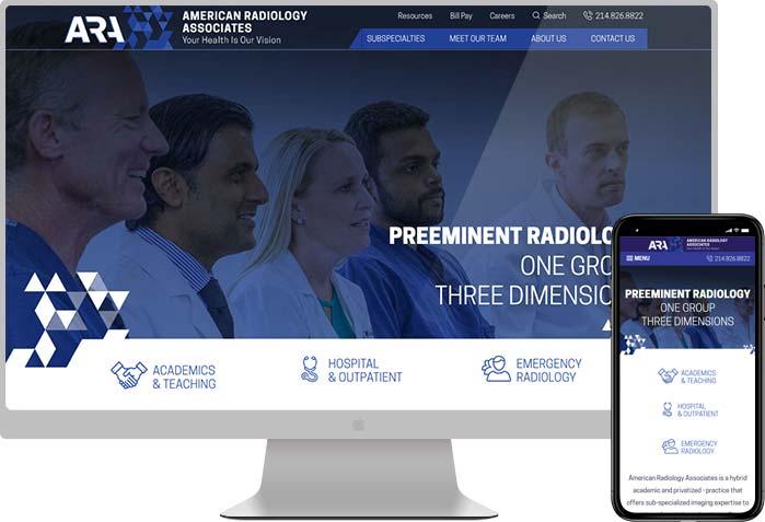 ARA healthcare web design