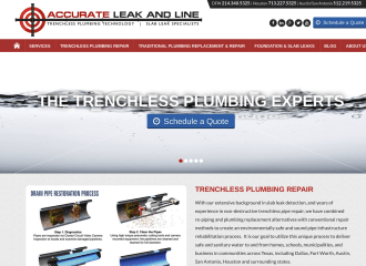 Accurate Leak and Line Website Design
