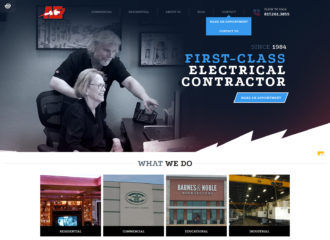 electrical company website design