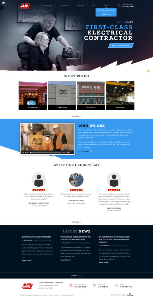electrical home service web design