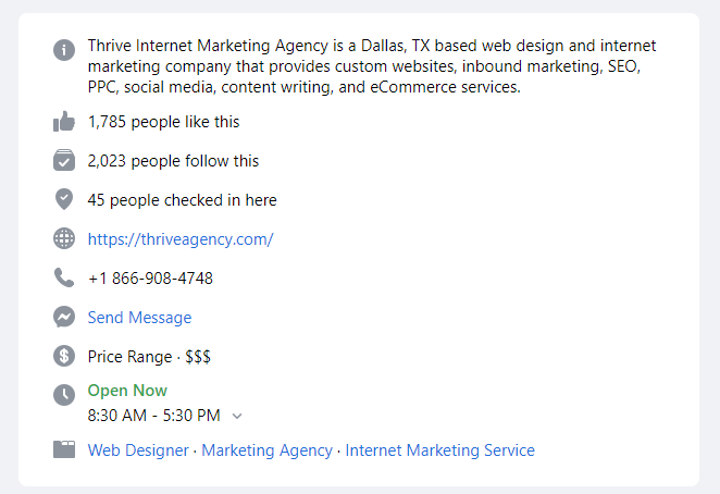 Add Business information