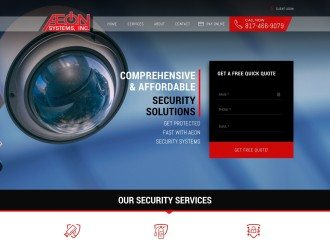 Aeon Systems Website Design