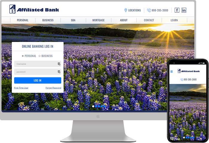 Affiliated Bank Website Design