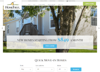 HomeFirst manufactured homes website design