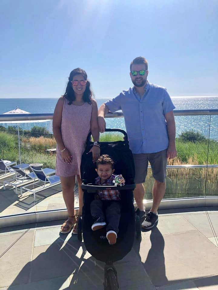 Alan with his wife and son
