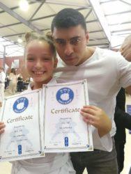 Anna at karate grading