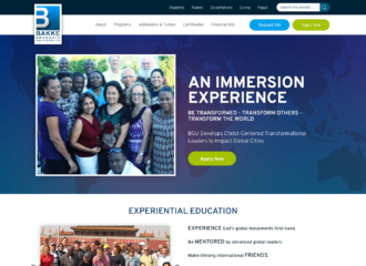 Bakke Graduate University Website Design