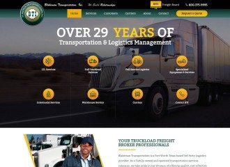 Trucking and Logistics Company Website Design