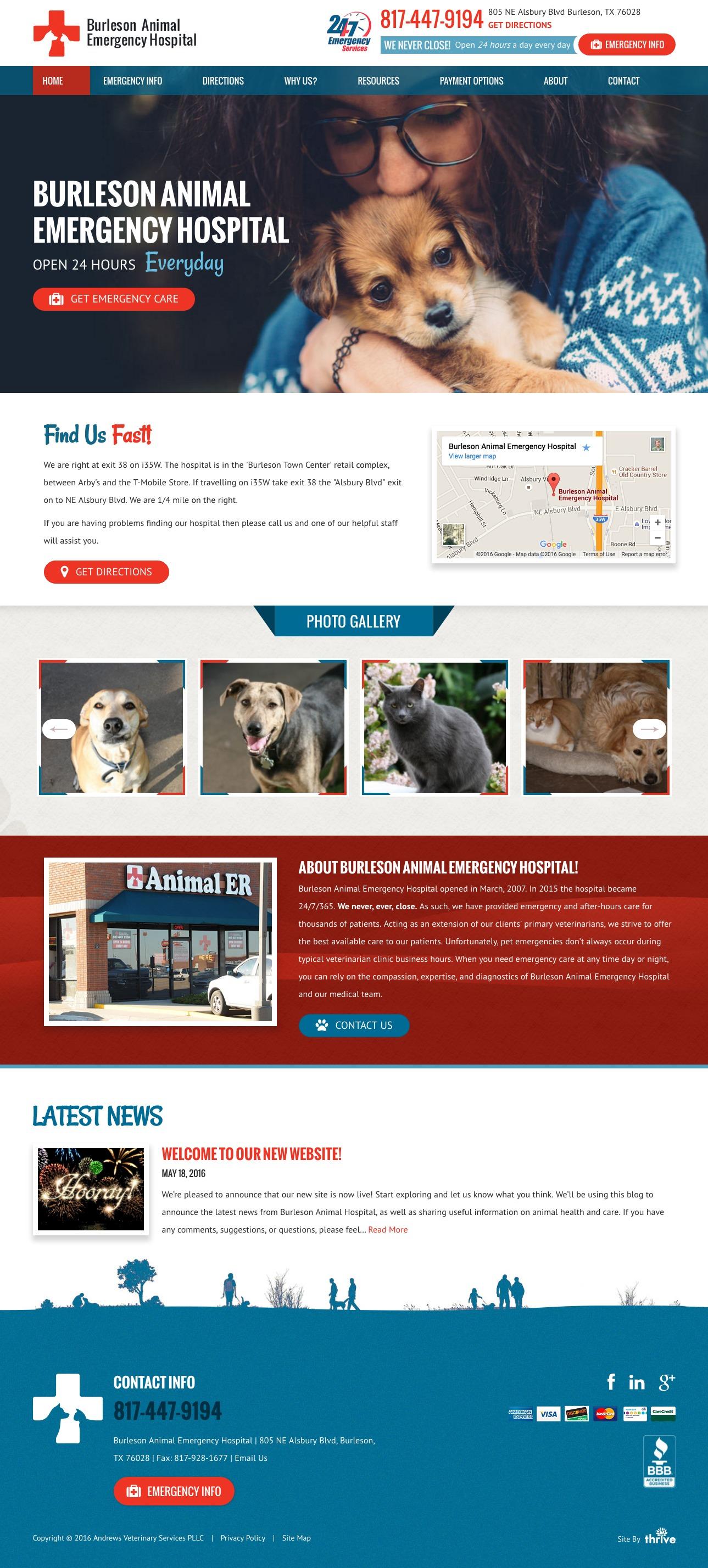 Burleson Animal Emergency Hopsital Animal Hospital Web