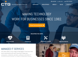 Corporate Technology Group Website Design