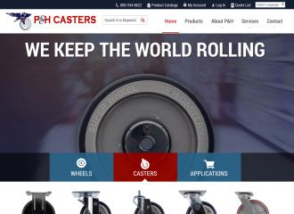 P&H Casters Website Design