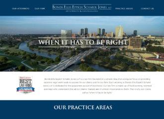 Bonds Ellis Eppich Schafer Jones LLP Law Firm Website Design