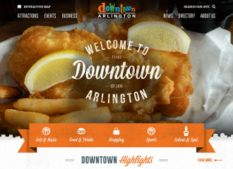 Downtown Arlington website redesign