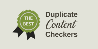 Duplicate Content Checkers
