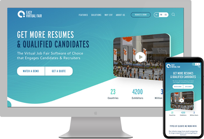 Easy Virtual Fair website preview
