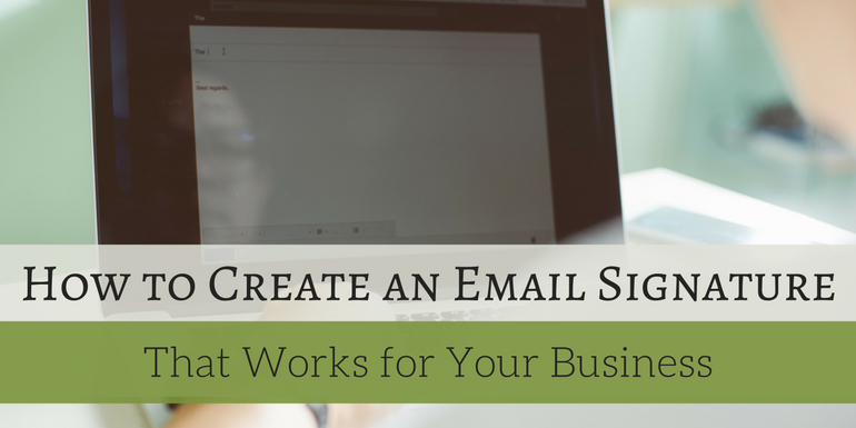 How to create email signature