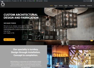 ENSO Fabrication website design