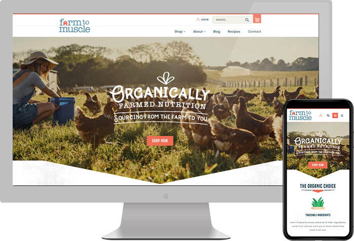 Farm to Muscle website preview