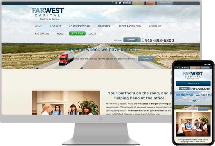 Far West Capital El Paso Website Design