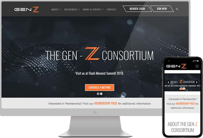 Gen-Z Consortium Website Design