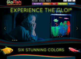GloFish retail web design