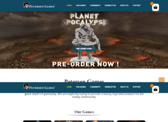 Gaming Company Website Design