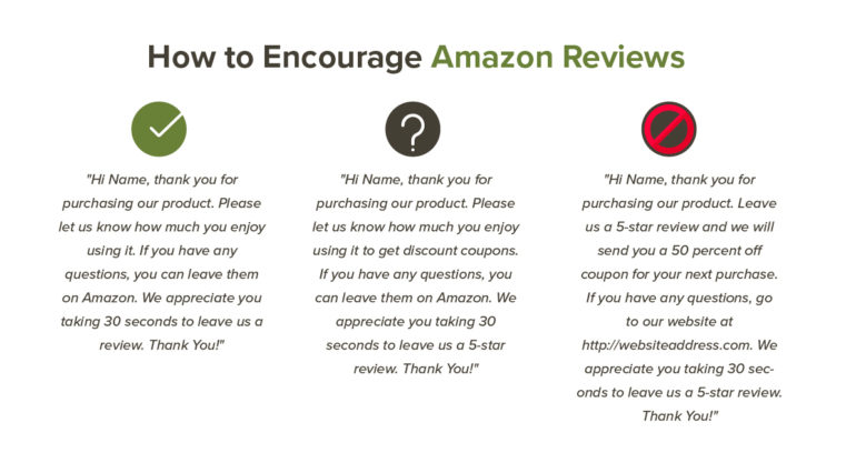 How to Encourage Amazon Reviews