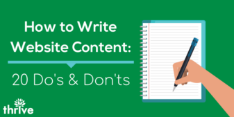 How To Write Website Content: Top 20 Do's And Don'ts