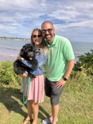 Allie with her husband and 6 month old puppy, Toby!