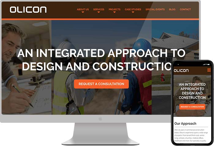 Olicon construction website design