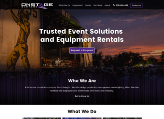 Onstage Systems Website Design