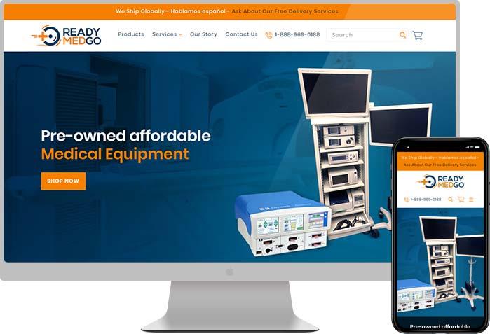 ReadyMedGo Medical Equipment Web Design