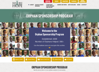 Restore Hope Website Design