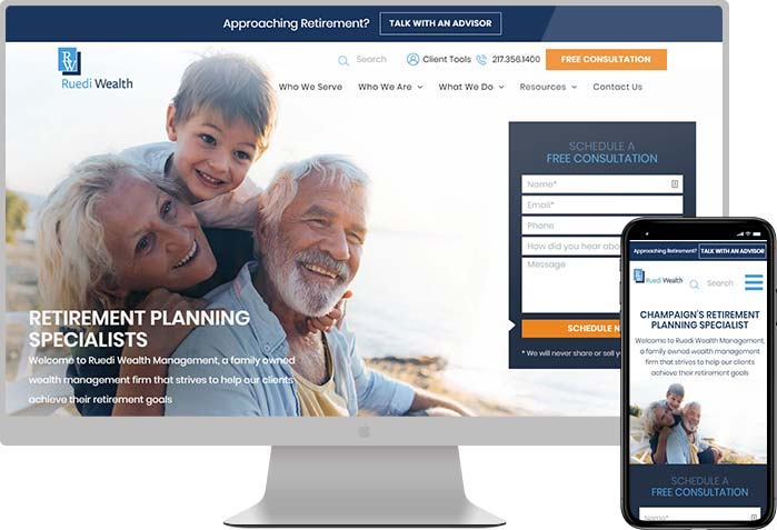 Ruedi Wealth Management Financial Web Design
