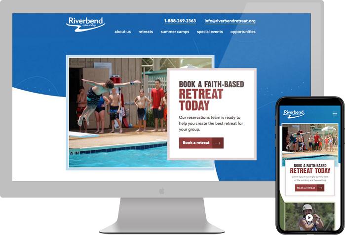 Riverbend Retreat website preview