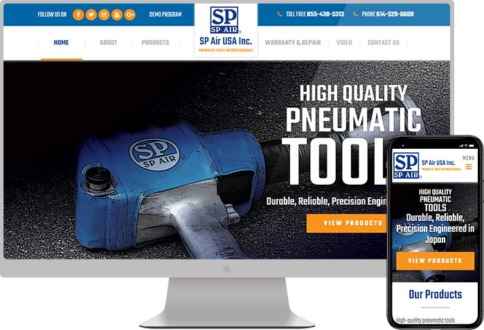 SP Manufacturing Website Design