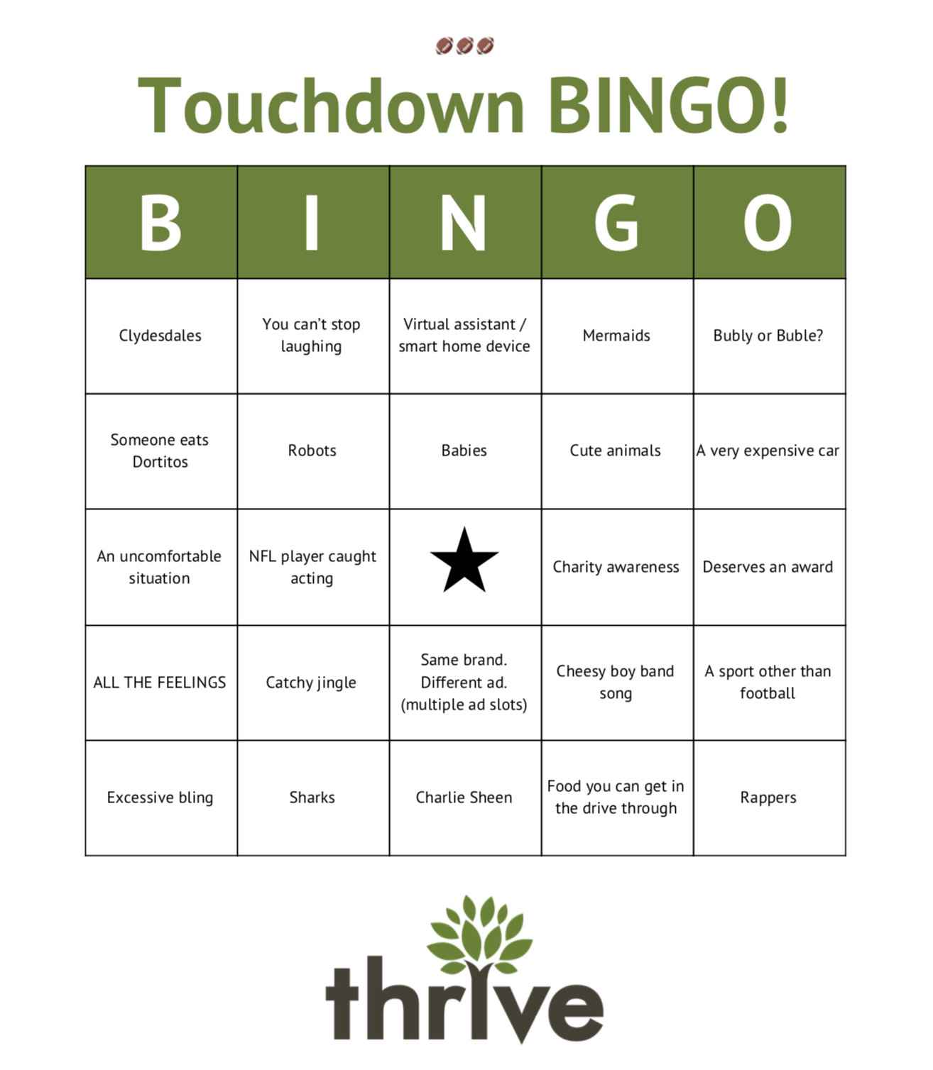 Big Game Bingo