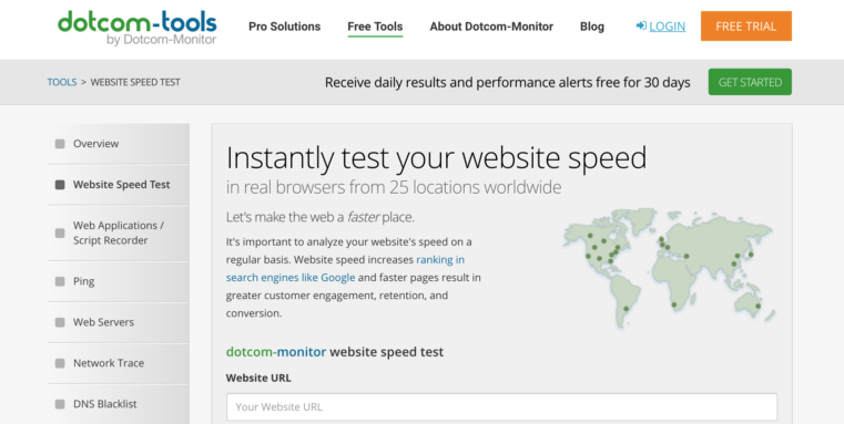 website page speed test