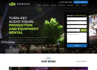 Showtech Productions Website Design