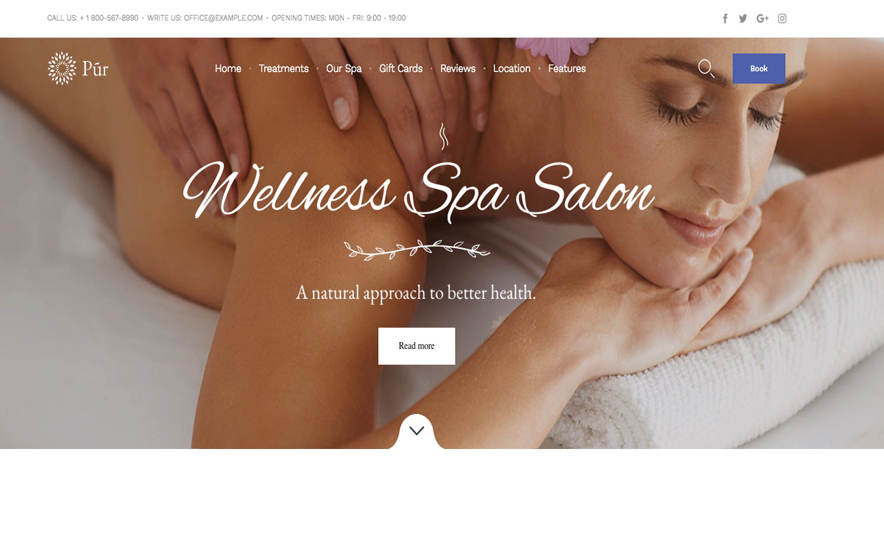 website design for spas