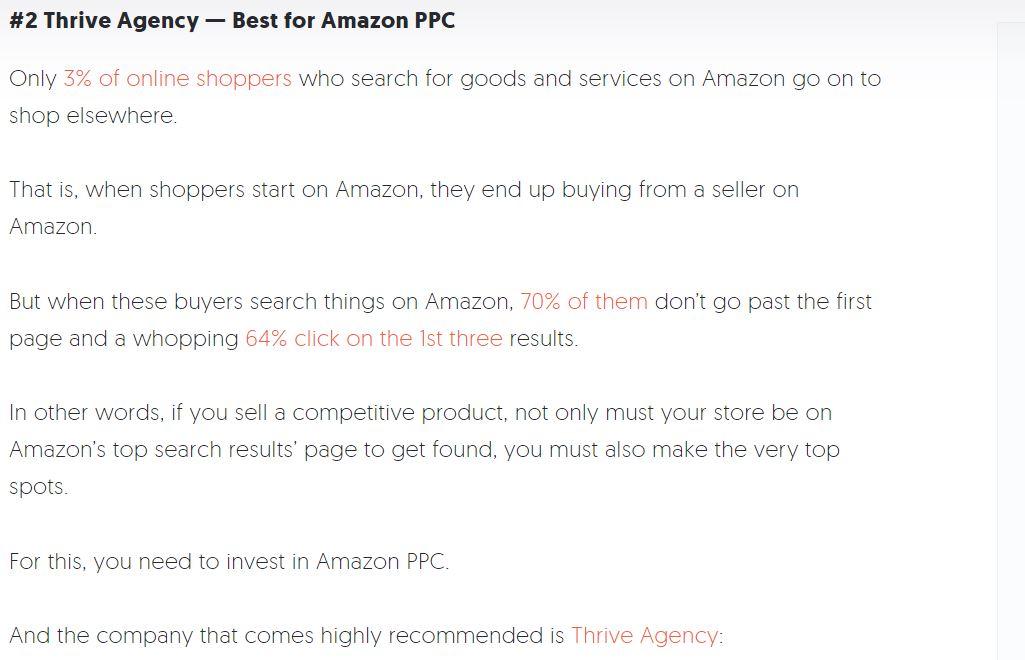 Thrive Best Amazon PPC