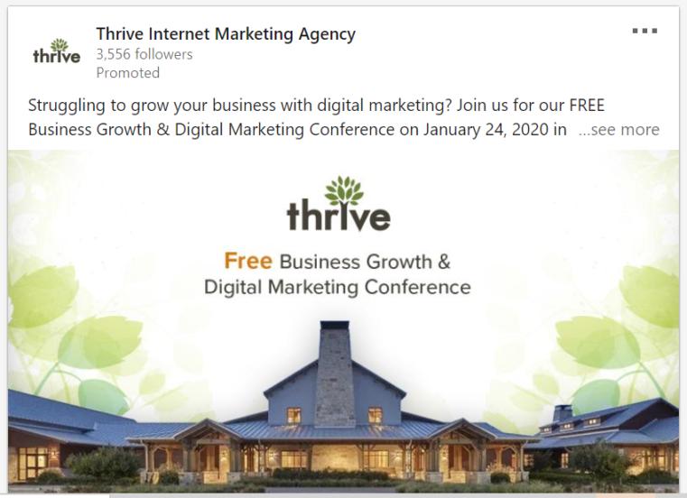 Thrive LinkedIn Advertisement