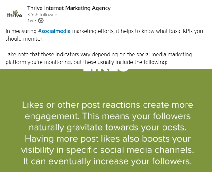 Thrive LinkedIn Post