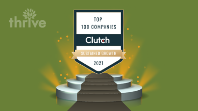 Thrive Named One of Clutch's Top 100 Companies for Sustained Growth for 2021