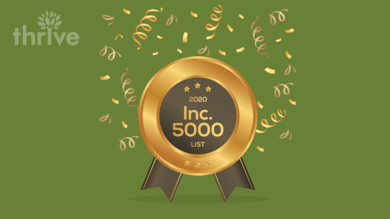Thrive Named to Inc. 5000 List of Fastest-Growing Companies