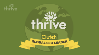 Thrive recognized as a Global SEO Leader on Clutch!